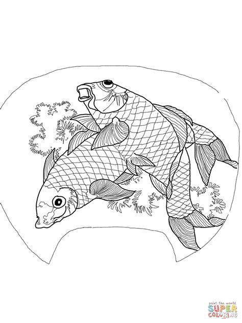 carp fish coloring pages carp coloring download carp coloring
