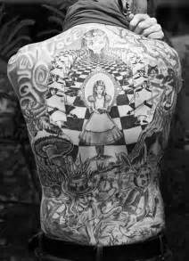 Alice in wonderland along cards tattoo these are pretty detailed and