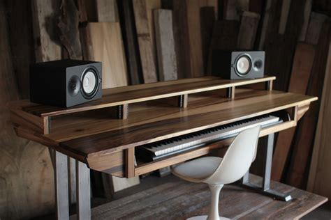 Large Modern Wood Recording Studio Desk For Composer Recording Studio Desks Workstations