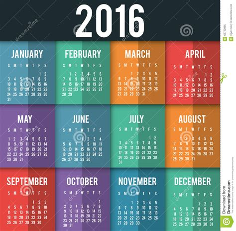 design calendar schedule new year calendar schedule stock vector image 62773895