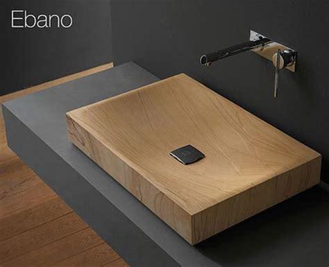 wood bathroom sink modern wooden sink made in stone rain ebony freshome com