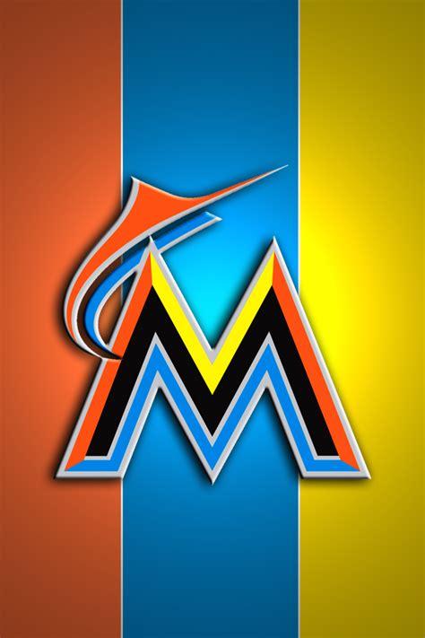 miami marlins colors miami marlins iphone wallpaper wallpapersafari