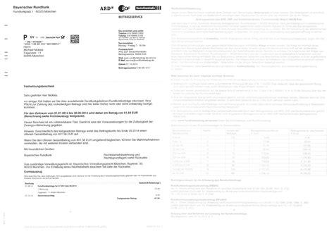 Brief An Gez Muster Festsetzungsbescheid Ard Zdf Verst 228 Rken Einsch 252 Chterungsmasche
