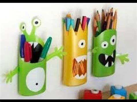 trabajos manuales con materiales reciclables manualidades para ni 241 os con material reciclable youtube