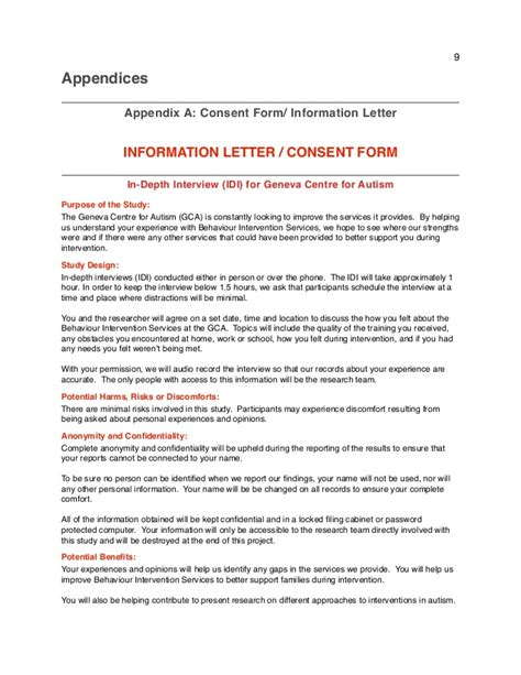 Letter Of Consent For Research Interviewing Bcproposalpdf