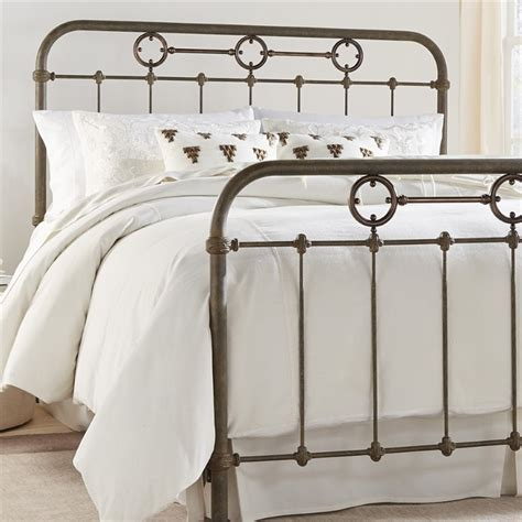 rustic metal headboards fashion bed madera full metal spindle headboard in rustic