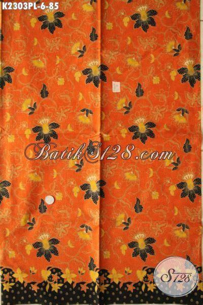 Kain Batik Halus Motif Cendrawasih Orange Bahan Batik Promo batik kain halus kwalitas bagus modis motif bunga batik