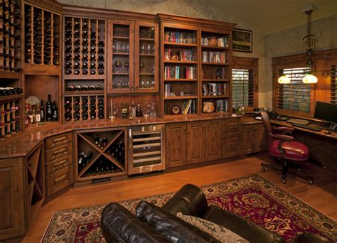 Rustic Garden Art - custom wine room rustic wine cellar by fedewa custom works