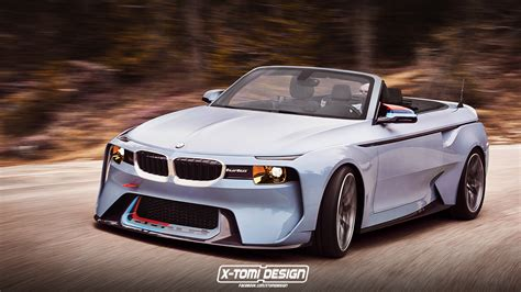 bmw concept 2002 bmw 2002 hommage concept reimagined as an open top carscoops