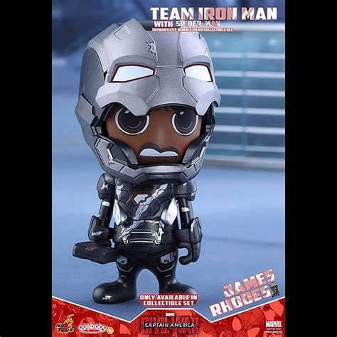 Toys Cosbaby Team Iron Marvel Captain America 3 Civil War toys captain america 3 civil war team iron with spider cosbaby bobble