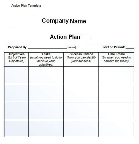 best photos of action plan template excel project action