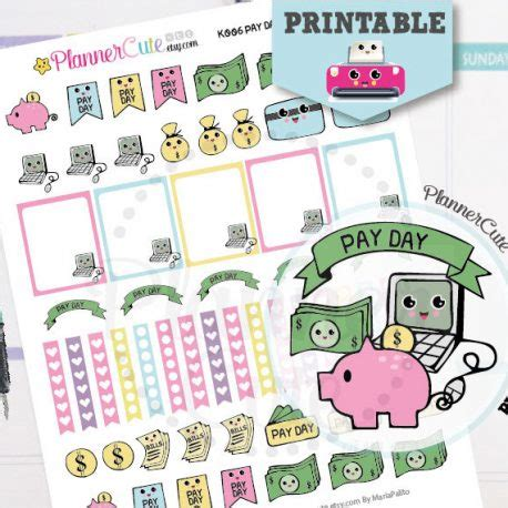 Free Printable Payday Stickers