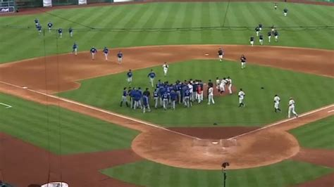 baseball benches clear things get heated at astros rangers game