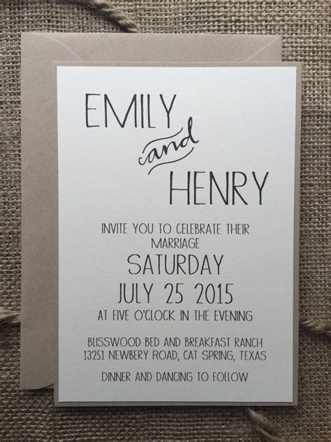 Wedding Invitation Cards Simple by Simple Wedding Invitations Best Photos Wedding Ideas