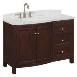 Allen Roth Bathroom Vanity Allen Roth Moravia Undermount Bathroom Vanity With Engineered Top 48 In X 20 In