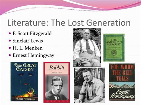 themes in lost generation literature ppt roaring 20s powerpoint presentation id 1655625