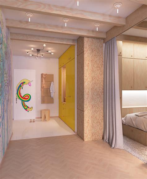bright homes in three styles pop art scandinavian and проект в скандинавском стиле quot adventure time quot on behance