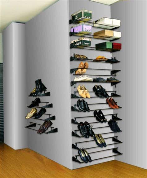How To Build Shoe Shelves In Closet by Diy Shoe Boot Storage Shoe Shelf Plans Closet Envy