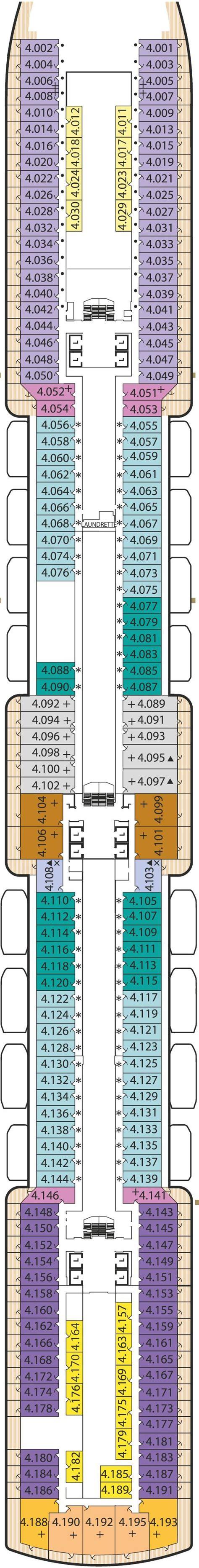 Deck Plan Elizabeth by Cunard Elizabeth Deck Plans Cruisekings