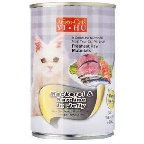Aristo Cat Litter aristo cats fresh mackerel and sardine in jelly 400g 24 cans