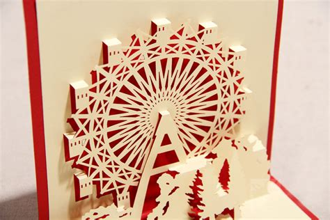 latest deisgn singapore flyer christmas gift 3d greeting