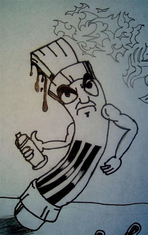 graffiti wall graffiti characters faces