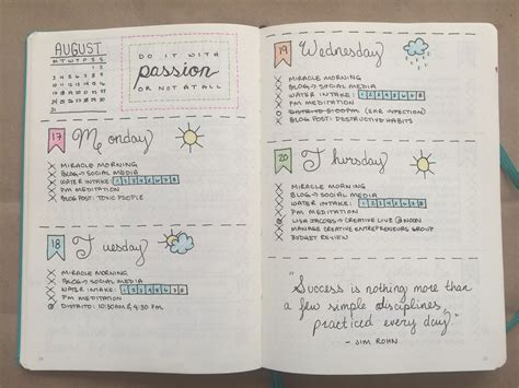 Bullet Journal | bullet journal one month update boho berry