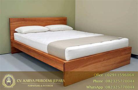 Kasur Tidur Minimalis tempat tidur jati minimalis modena