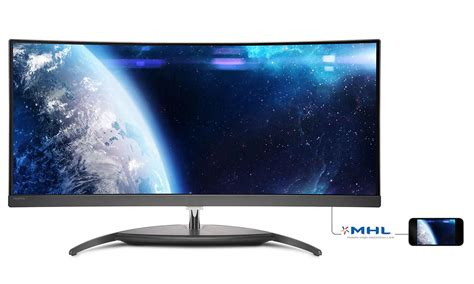 Philips Automotive Lighting Curved Ultrawide Lcd Display Bdm3490uc 00 Philips