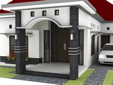 kumpulan model teras rumah desa sederhana homkonsep