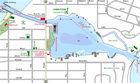 round lake map charlevoix county michigan fishing michigan - Round Lake Laingsburg Mi Boat Rental