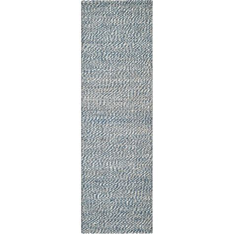 8 foot runner rug safavieh fiber blue ivory 2 ft x 8 ft runner rug nf448c 280 the home depot