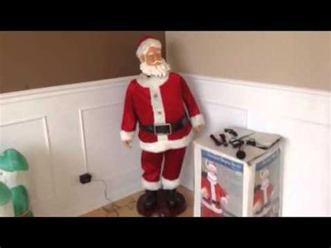 4 foot santas gemmy 4 foot animated singing santa