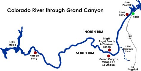 grand map colorado river info on all trips canyoneers