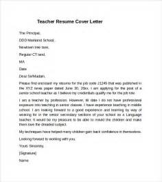 Cover Letter For Teachers Resume by Cover Letter Exle 10 Free Documents In Pdf Word