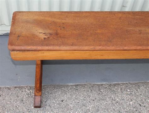 pine shoe bench 19th century pine farm house brench with shoe feet for