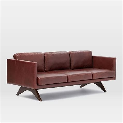 brooklyn leather sofa brooklyn leather sofa 81 quot west elm
