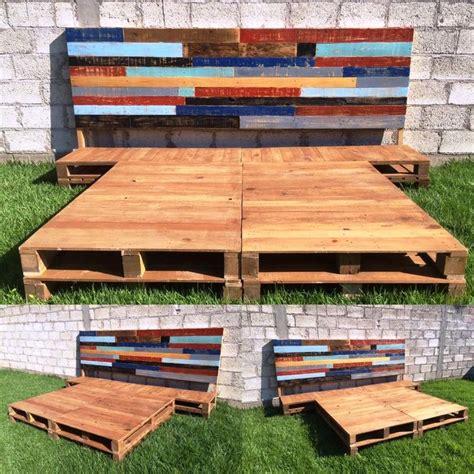 diy pallet bed instructions 25 best ideas about pallet platform bed on pinterest
