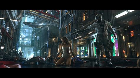 android wallpaper video games cyberpunk 2077 android vs swat wallpaper digitalart io