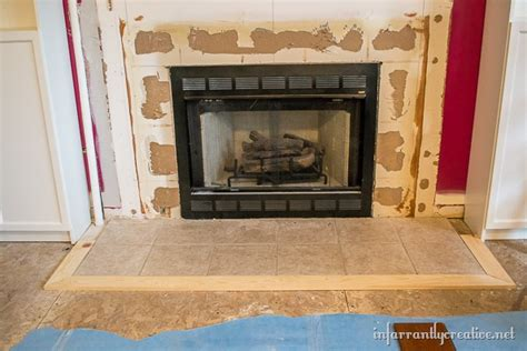 diy fireplace hearth family room makeover part 2 framing out the fireplace