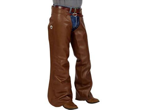 Berlian 0 245 Ct Brown cowboy basic shotgun chaps k bar j leather mounted