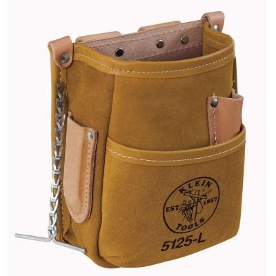 klein tools 5 pocket tool pouch leather 5125l the home