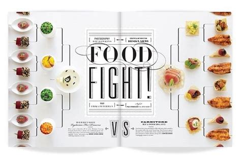 spread 2 design print pinterest food magazines a different approach for a double spread neatly organised
