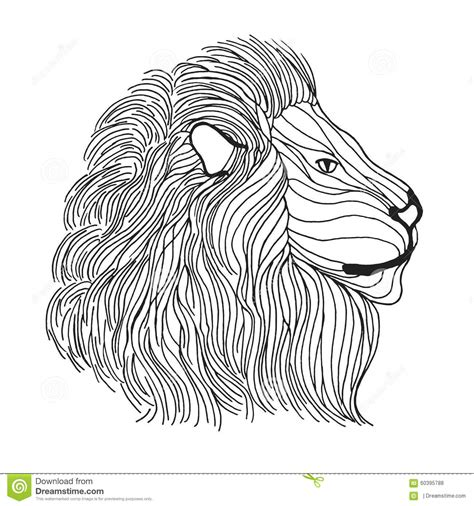 abstract lion coloring pages zentangle stylized lion head sketch for tattoo or t shirt