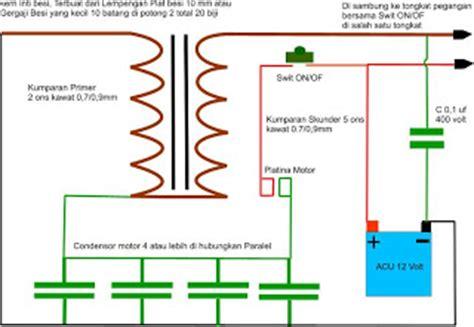 fungsi kapasitor pada setrum ikan kreasi electronik membuat sendiri alat setrum ikan