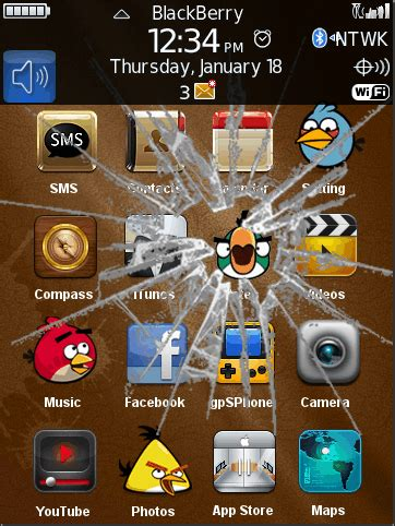 themes ownskin com broken screen angry bird mobile themes for blackberry