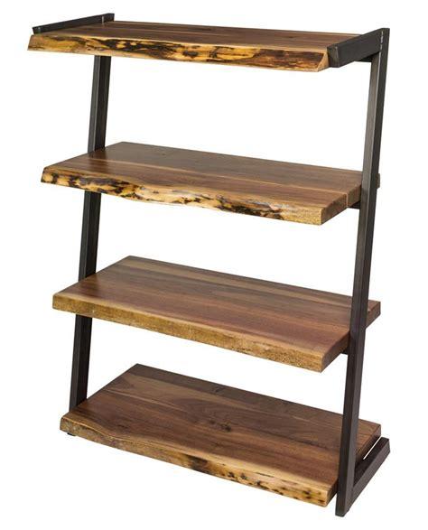 amish soho live edge bookcase