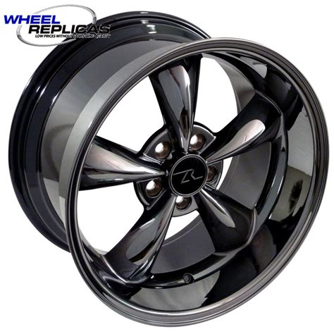 black chrome mustang wheels 18x10 dish black chrome bullitt wheels for mustangs