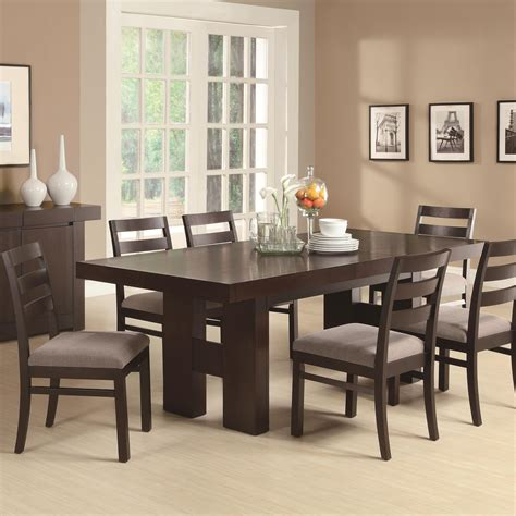 coaster dabny 7 rectangular dining table set with