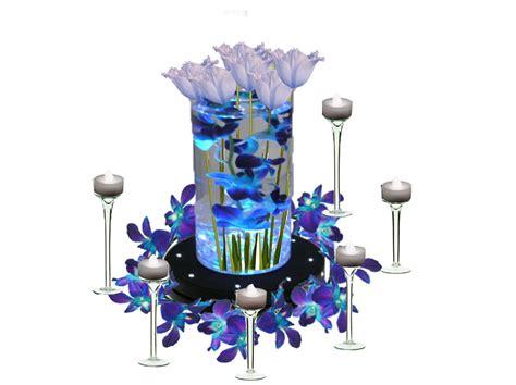 diy centerpieces blue orchids diy wedding ideas